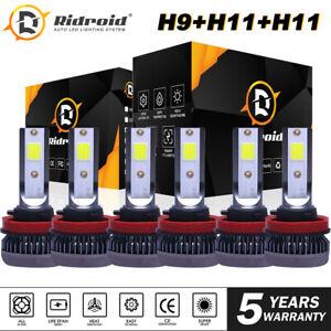 For 2007-18 Nissan Altima 6x Led Headlight Hi/Lo+Fog light bulbs Combo Kit White