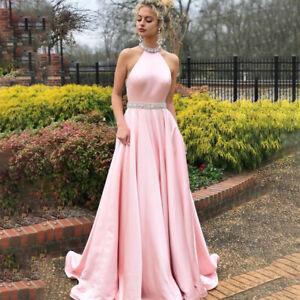 Kleid Lang Rosa In Brautjungfern Besonderne Anlasse Artikel Gunstig Kaufen Ebay