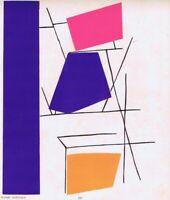 Richard Mortensen Pochoir Print Abstract Plate XXII 1952 From Rare Portfolio