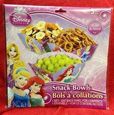 Disney Princess 3PC SNACK BOWLS BIRTHDAY PARTY DECOR SNACK BOXES GIRLS NEW