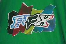 Fox Racing T-Shirt Green Large Short Sleeve Motorcycle Dirtbike ATV