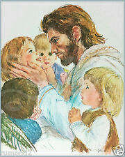 Jesus Christ//Poster//Print//Little Children Come Onto Me//16x20 inch//vintage repro.