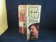 TZUMI POP SOLO BLUETOOTH 2 IN 1 KARAOKE MICROPHONE & SPEAKER 4903 RG - NEW