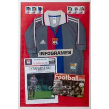 Tableau Football Vintage LYON 2001 AWAY - Dimensions 60x90