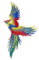 Écusson patche Phoenix Paon oiseau céleste patch thermocollant brodé
