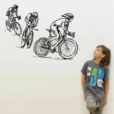 Wall Decal bike cycle track competition race speed jumping jump Nursery M1728