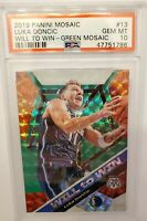 2019-20 Panini Mosaic Luka Doncic Will To Win Green Mosaic PSA 10 GEM MINT