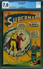 Superman 121 CGC 7.0 -- 1958 -- Curt Swan Time Machine Top 15 copy #1402294002