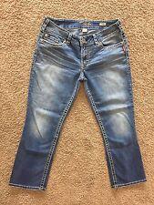 Silver ~ SUKI CAPRI ~ Womens Size W32 Jeans Shorts