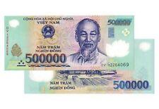 500000 X 1 Vietnamese Dong Banknote. 500,000 Vnd Bill. Cir. Single Note.