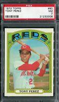 1972 Topps #80 Tony Perez PSA 7 NM
