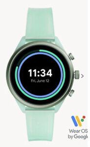 Fossil Sport Smartwatch Mint Green silicon strap New Model DW9F1 Wear OS Google
