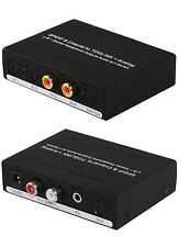 Dual Digital Coax + Optical INPUT to Analog 3.5mm & Optical OUT Converter Switch