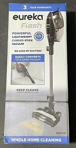 Eureka Flash Vacuum Cleaner Corded Stick Bagless 2-in-1 with Storage Base NEW