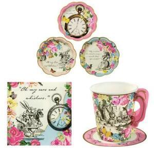 Alice wonderland tea party mad hatter tableware Kits 12