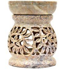 Nirvana-Class 3 Inch Handmade Beautiful Carving Stone Aroma Diffuser Oil Burner