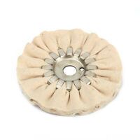 "5 Inch Cotton Airway Buffing Wheel Polishing Pad Compound Tool Hole 5/8"" 2Pcs"
