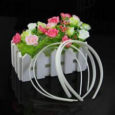 SELL 12 X Fashion White Girl Plain Plastic No Teeth Hair Bands DIY Headband HOT