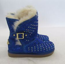 US TODDLER  Size 11    Urban Glitter Blue Rhinestones Winter Ankle Sexy Boot