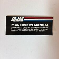 G.I. JOE Maneuvers Manual Catalog Insert Hasbro 1987 Vintage 1980s