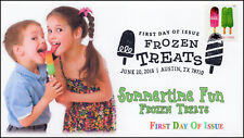 18-157, 2018, Frozen Treats, First Day Cover, Pictorial Postmark, Ice Cream, Kid