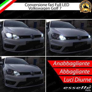 KIT FARI FULL LED VW VOLKSWAGEN GOLF 7 ANABBAGLIANTI H7 + ABBAGLIANTI DIURNE H15