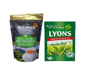 McEntee's Breakfast Blend Loose Tea 250g & Lyons Original Loose 250g- Twin Pack