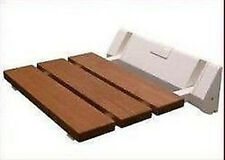Folding Seat Safety Wall Mount Fold-up Wooden Shower bathroom bath chair Set
