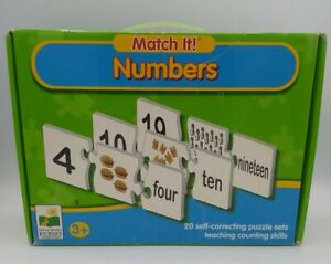 Match It Numbers Kids Self Correcting Number & Learn To Count Puzzle ages 3+