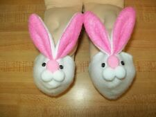 """15 16 17 18 20"""" CPK Cabbage Patch Kids dolls WHITE FLEECE BUNNY SLIPPERS"""