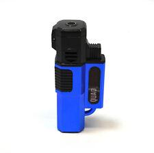 New 4 Quad Flames Windproof Butane Torch Cigar Lighter Blue