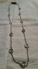 Fashion Women Crystal Rhinestone Silver Plated Long Chain Necklace