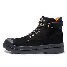 Men's Lace-up Ankle Boots Casual Military Combat Desert High Top Shoes Outdoor