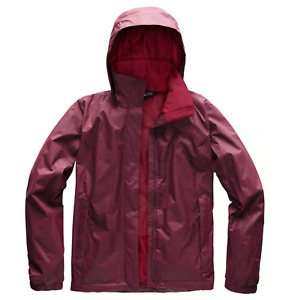 NWT THE NORTH FACE Ladies Resolve 2 Jacket XS Fig Red Hooded Rain Waterproof