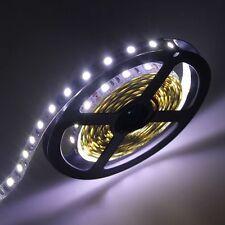 5M 16.4ft White 5050 SMD 300 LED Strip Lighting Car Lamp Flexible DIY DC 12V