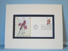 State Bird & Flower of Ohio- the Cardinal & Red Carnation & First Day Cover