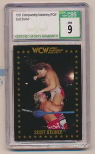 1991 Championship Marketing WCW Scott Steiner PROMO No Number CSG 9