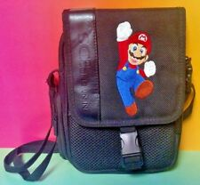 Nintendo DS DS Lite Mario Travel Bag Carry Case Game Boy Embroidered Black Strap