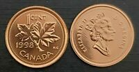 Canada 1998 Proof Like Gem UNC Small Cent Penny!!