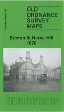 OLD ORDNANCE SURVEY MAP BRIXTON & HERNE HILL 1870