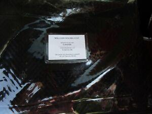 Williams Sonoma Tartan Reversible Velvet Coverlet black full queen New
