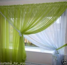 AMAZING FOR YOU VOILE TWO-COLOUR NET CURTAINS 9 COLOURS VARIOUS SIZES