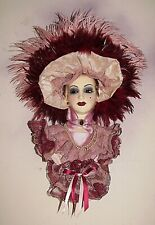 Unique Creations Limited Edition Victorian Lady Face Mask Wall Hanging Decor