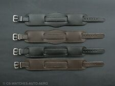 New Leather WW1 Military Trench Watch Strap Band - Black  Brown - 10mm 12mm 14mm