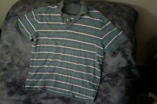 Croft & Barrow-Size: L-Grey & Blue-Men's-Short Sleeve-Polo-Causual-Shirt-Top