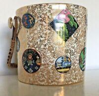 Victorian Aesthetic Movement/School Pottery Biscuit Barrel