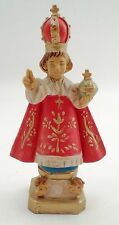 "Italian Italy Cast Resin Holy Infant Jesus Child of Prague 6"" Tall Statue Icon"