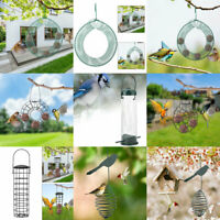 Hanging Metal Spring Bird Feeder Seed Container Garden/Outdoor Feeding Station