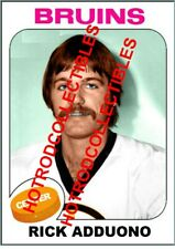 1975-76 TOPPS OPC O Pee Chee Custom Rick Adduono Boston Bruins NHL #588