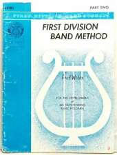 FIRST DIVISION BAND METHOD FOR DRUMS PART 2 TWO FRED WEBER 1963 VERY RARE!!!!